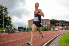 Niall Shanahan of An Bru AC, Co. Limerick, on his way to winning the 3000m Open Men event sponsored by Leisure World during the BAM Cork City Sports at CIT Athletics Stadium in Bishopstown, Cork. Photo by Sam Barnes/Sportsfile