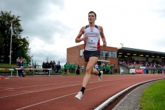 Joachim Tranvag of Rindal IL, Norway, on his way to finishing second in the 3000m Open Men event sponsored by Leisure World during the BAM Cork City Sports at CIT Athletics Stadium in Bishopstown, Cork. Photo by Sam Barnes/Sportsfile