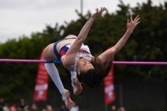 14 August 2019; Emily Borthwick of Great Britain competing in the Women's High Jump event, sponsored by AON Hewitt, during the BAM Cork City Sports at CIT Athletics Stadium in Bishopstown, Cork. Photo by Sam Barnes/Sportsfile
