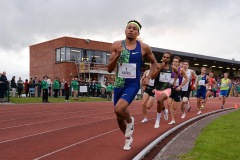 Isaiah Harris of USA on his way to winning the Men's 800m event, sponsored by Cork City Council, during the BAM Cork City Sports at CIT Athletics Stadium in Bishopstown, Cork. Photo by Sam Barnes/Sportsfile
