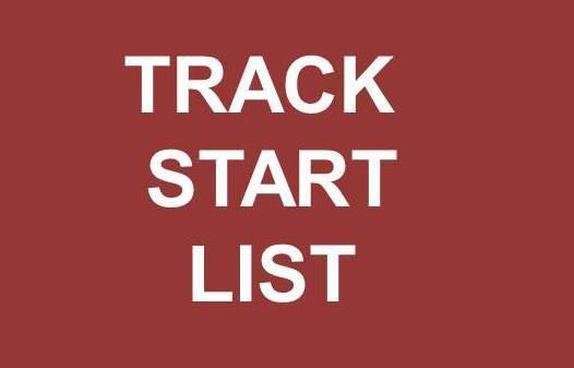 Track Start List