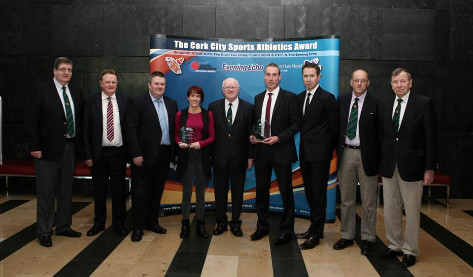 L to R., Terry O'Rourke CCS, Michael O'Connell CCS, Kieran Mc Geary, CEO Cork 96FM C103, Tony O'Connell Chairman CCS, Ruairi O'Connor, General Manager, The River Lee, Liam O'Brien CCS and Frank Walley, president CCS