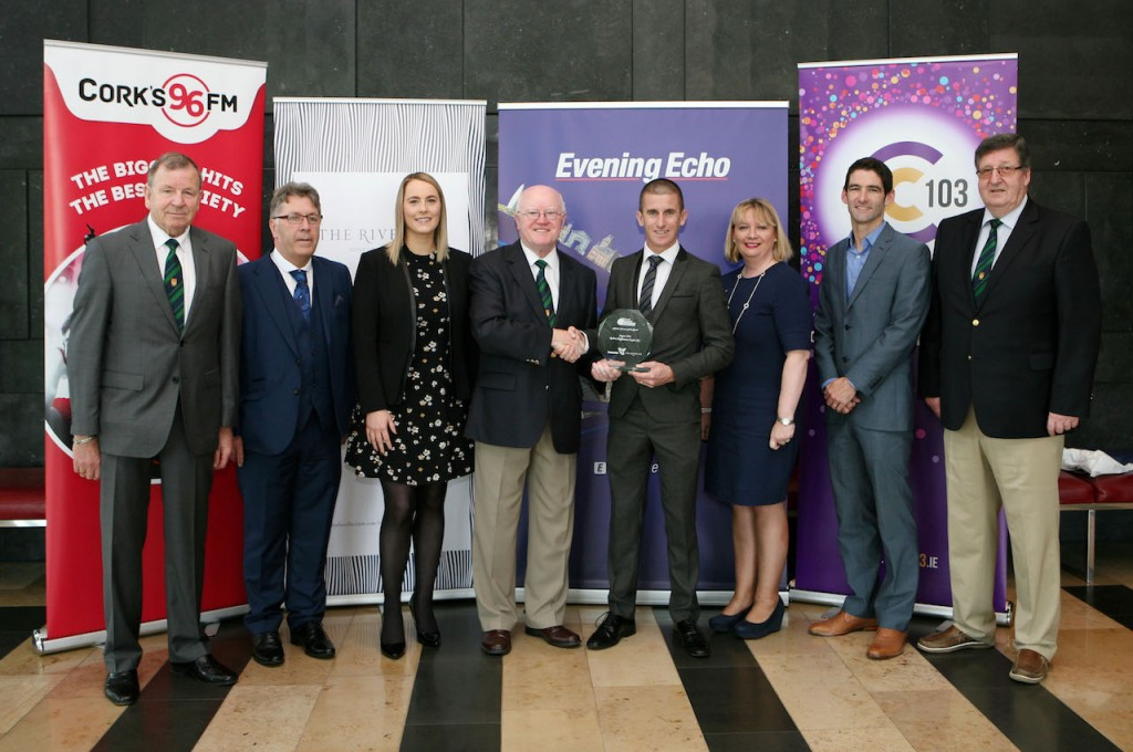 L to R., Frank Walley, Chairman CCS, Jim Horgan, Cork 96FM C103, Nicola Cullinane, Marketing Executive, Evening Echo, Tony O'Commell Charman CCS, Robert Heffernan, Paula Cogan, Global Sales & Marketing, The River Lee and Doyle Group, Eamon Murphy, Deputy Editor, Evening Echo and Terry O'Rourke, Secretary CCS. Picture, Europhoto.
