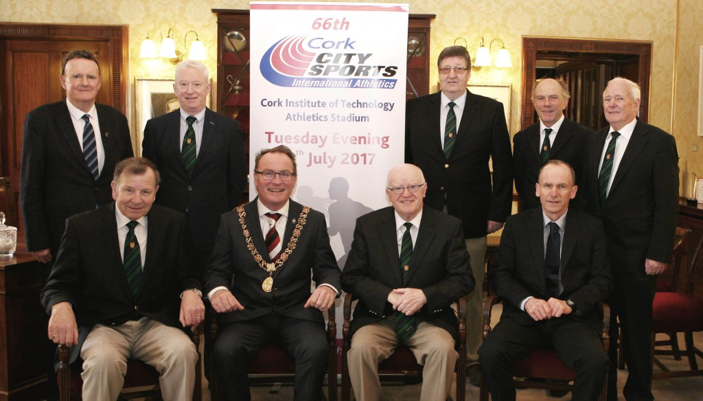 Seated L to R., Frank Walley President CCS, Tony O'Connell Chairman CCS Stephen Scully, Cork City Council. Back Row L to R., Michael O'Connell, Finance Committee CCS, Joe Hartnett, Meeting Director CCS, Terry O'Rourke Secretary CCS, Ray Shanahan, Vice President CCS and Shay Curtin, Programme Co-ordinator CCS. Picture, Martin Collins.