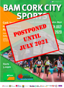 BAM Corks City Sports 2020, Postponed