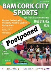 BAM Cork City Sports postponed until 2022